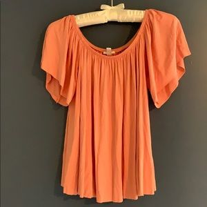 BP Off the Shoulder Top - XS, Dusty Rose